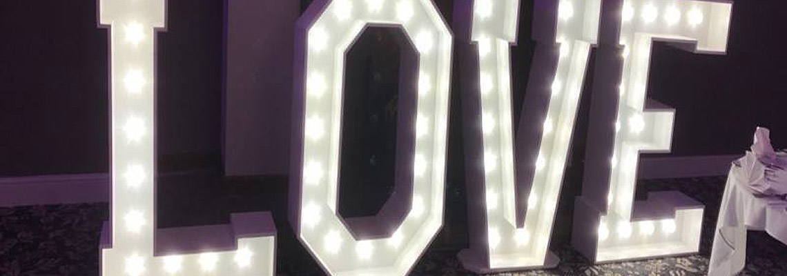 LOVE light up giant letter hire
